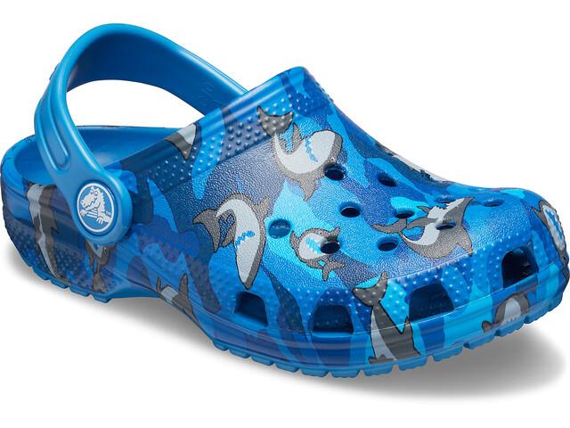 Crocs Classic Shark Prescool Crocs Enfant, prep blue